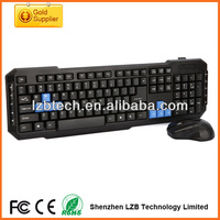 2.4G wireless usb computer mouse keyboard combo,high quality gaming mouse and keyboard