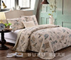 New style colorful patchwork quilt/ruffled bedspreads sets