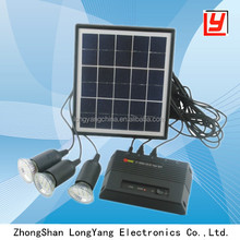 4W portable solar power system for family use with LED light