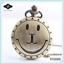 TF0089 Big Smile Face Vintage pocket watch face girls