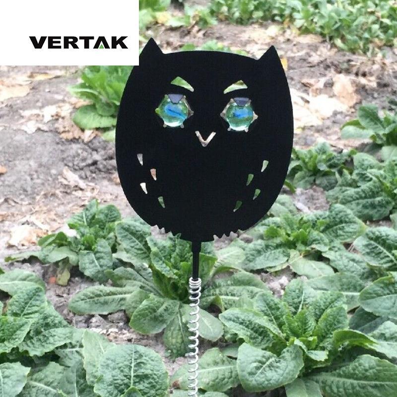 Vertak metal jardín en primavera para asustar a las aves paloma búho repelente scarer pájaro