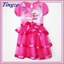 Best sale newest princess girl dress wholesale frozen elsa dress cosplay HZF234