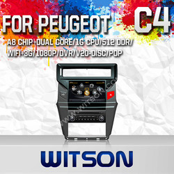 WITSON CAR AUDIO SYSTEM FOR CITROEN C4 2012 WITH DVR SUPPORT A8 DUAL CORE CHIPSET WIFI 3G APE MUSIC BACK VIEW
