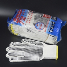 pvc dotted working glove 60 grams nylon working gloves super quality