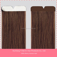 grade 7A brazilian remy double drawn curly tape hair extensions