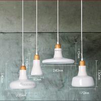 hand blown glass BK2044-P milk white laminated glass led hanging light