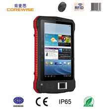"7"" rugged 3g android tablet pc dual core 5.0M camera GPS WiFi RFID Fingerprint barcode scanner"
