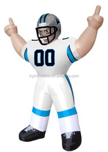 Giant NFL Carolina Panthers Standing Inflatable Player, Inflatable Bubba Player for sale