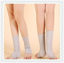 high quality 10 * 23 bamboo fiber softable breathable beige color elastic ankle support / sleeve / wrap