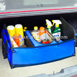 Multi-functional Car Boot Storage Bag Collapsible car organizer large space car storage box with Insulation bag