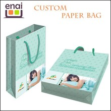 China factory price customized printing paper gift bags with ribbon handles