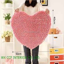 heart shaped thin bath mat set