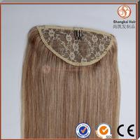 wrap around drawstring ponytail claw clip ponytail human hair extension
