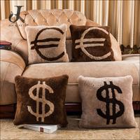 New Special Wool Pillow Shearling Sheepskin Lamb Fur Cushion