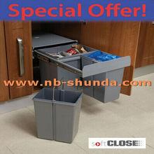 Gabinete de cocina de venta al por mayor distribuir classic papelera de reciclaje
