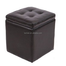 Colorful Faux Leather Folding Storage Ottoman/Moroccan Leather Pouf Ottoman Footstool