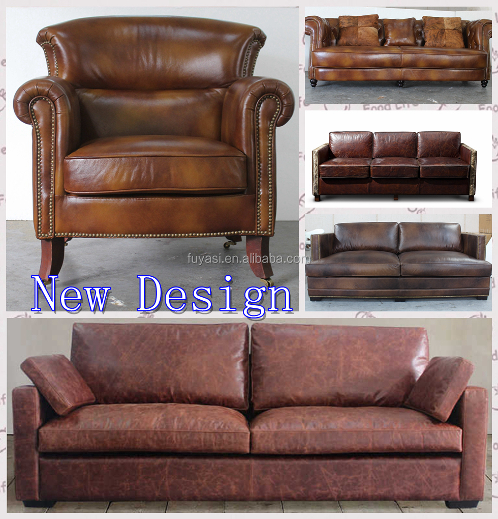 Woonkamer sofa set echt leer antieke stijl slaapbank chinese louis ...