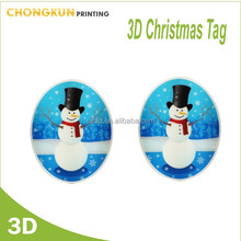 New Creative 3d lenticular christmas hanging decoration