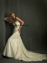 Strapless Lace Wedding Dresses With Handicraft Y-0068