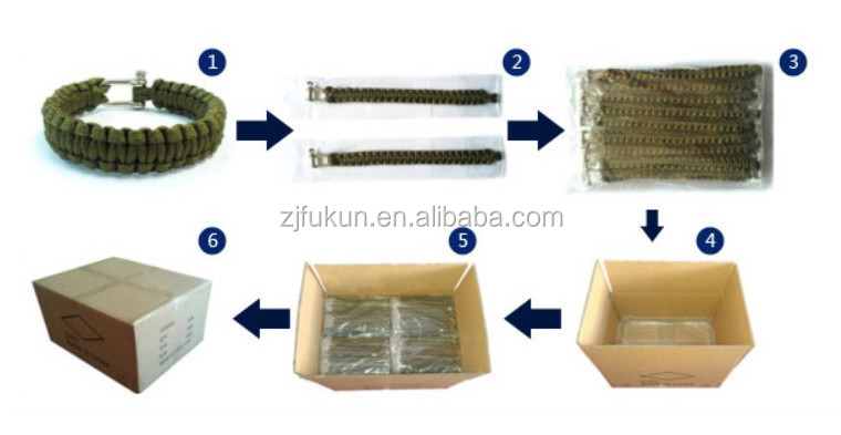 package for paracord bracelet