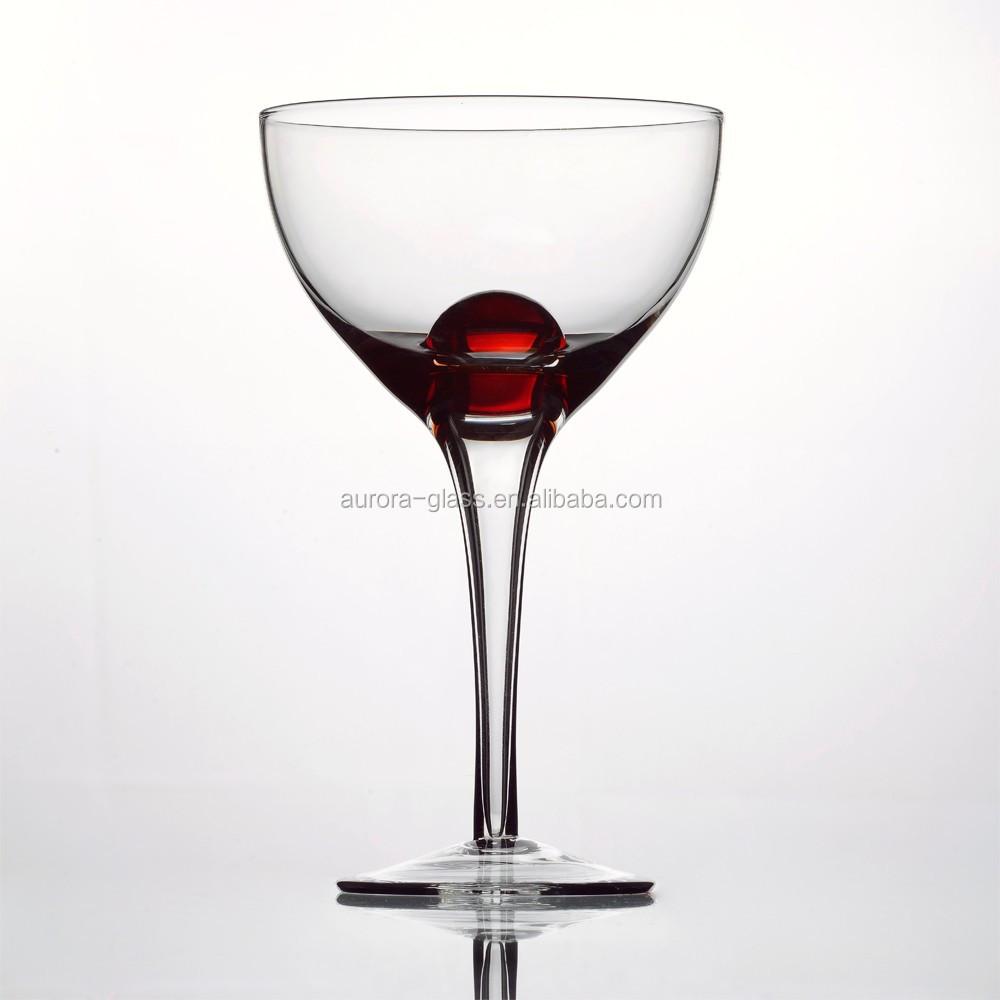 Bubble Ball Martini Glass Colored White Wine Glass Goblet