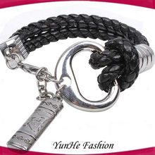 China Manufacture Mens Braided Leather Bracelet Wholesale