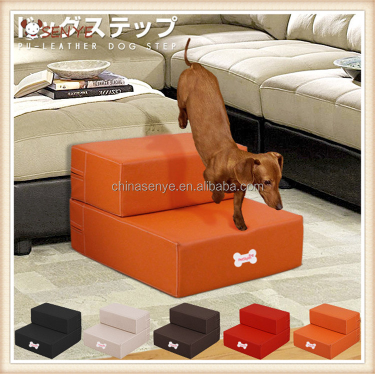 escaliers de chien en cuir pliable pour animaux de compagnie escaliers tanche chien escaliers. Black Bedroom Furniture Sets. Home Design Ideas