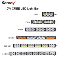 30w 60w 90w 120w 150w 180w 210w 240w 270w 300w single row dual row side by side utv led light Bar