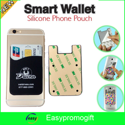 logo printed mobile phone silicone smart wallet