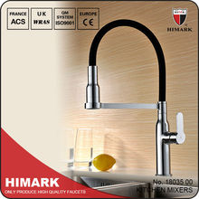 Hot and cold pull out kitchen taps mixer