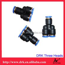 through-type Plastic quick plug gas-type fitting