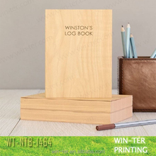WT-NTB-1464 Wooden pattern printed notebook