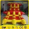 Water toys red inflatable fly fish banana boat with 2 years warranty