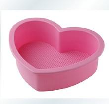 2014 nueva llegada de utensilios para hornear en forma de corazón de silicona molde de la torta