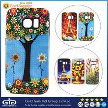 TPU+PC 2 in 1Phone Case with Unique Oil Painting Series by 3D Printer for Samsung for Galaxy S6 Edge Case