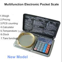 De múltiples funciones digital balanza comercial de precio con luz de fondo blanca escala de precios