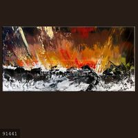 100% Handmade new modern heavy texture abstract oil painting for living room, Nascent Lava #91441