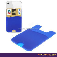Easy to use silicone smart wallet 3M self adhesive 3m adhesive skin sticker for iphone 4s 4