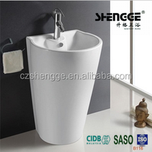 Chaozhou factory durable sanitary ware counter top basin washing hair