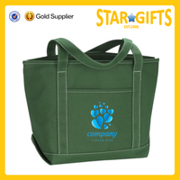 promotional fashion durable printed cotton canvas blank tote bag