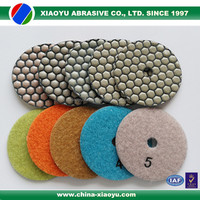 wholesale top quality high luster 7 step 4 inch dry polishing pads for granite marble