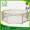 folding and portable indoor and outdoor wooden pet playpen