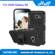 Shock proof hybrid case for samsung galaxy S6 with stand