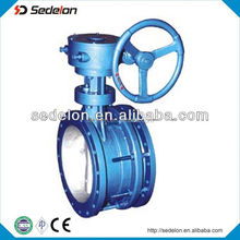 Flanged Triple Offset Eccentric Butterfly Valve Gear Operated Fire Safe Stainless Steel