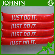 Hot selling supply customized plastic inflatable cheering sticks