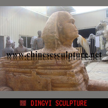 sphinx and pyramid statue