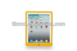 Latest yellow silicone case cover for apple ipad 2 3