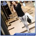 2014 venta caliente sexy damas de piel de serpiente patrón de impresión de alta rayas medias polainas stretch pantalones