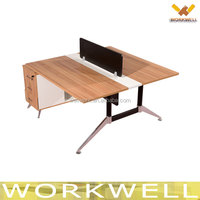 WorkWell Office furniture supply modern classic cherry wood double sided office staff desk Kw-Z12