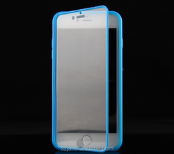 Transparent Touch Screen phone silicone case for iphone6 6s 6splus TPU Matte Flip Clamshell